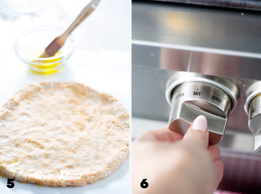 step 5 and 6 for making AIP Pizza Crust