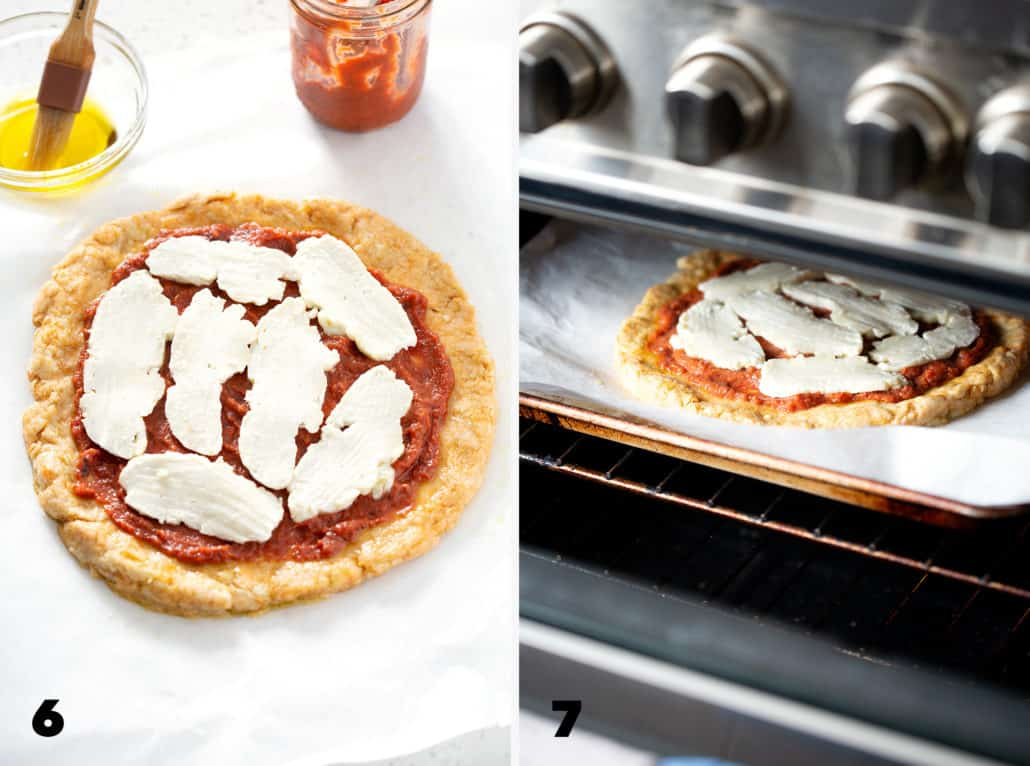 step 7 and 8 for making AIP Pizza Crust