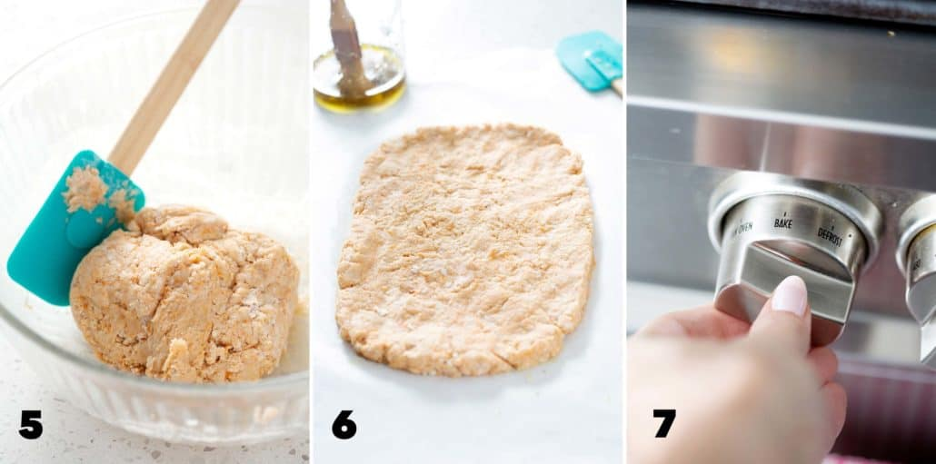 step five, six and seven for making AIP Focaccia Bread