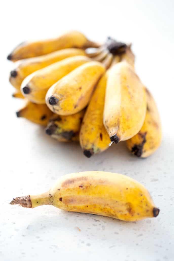 thai bananas used in Vietnamese Tapioca Pudding (che chuoi chung)