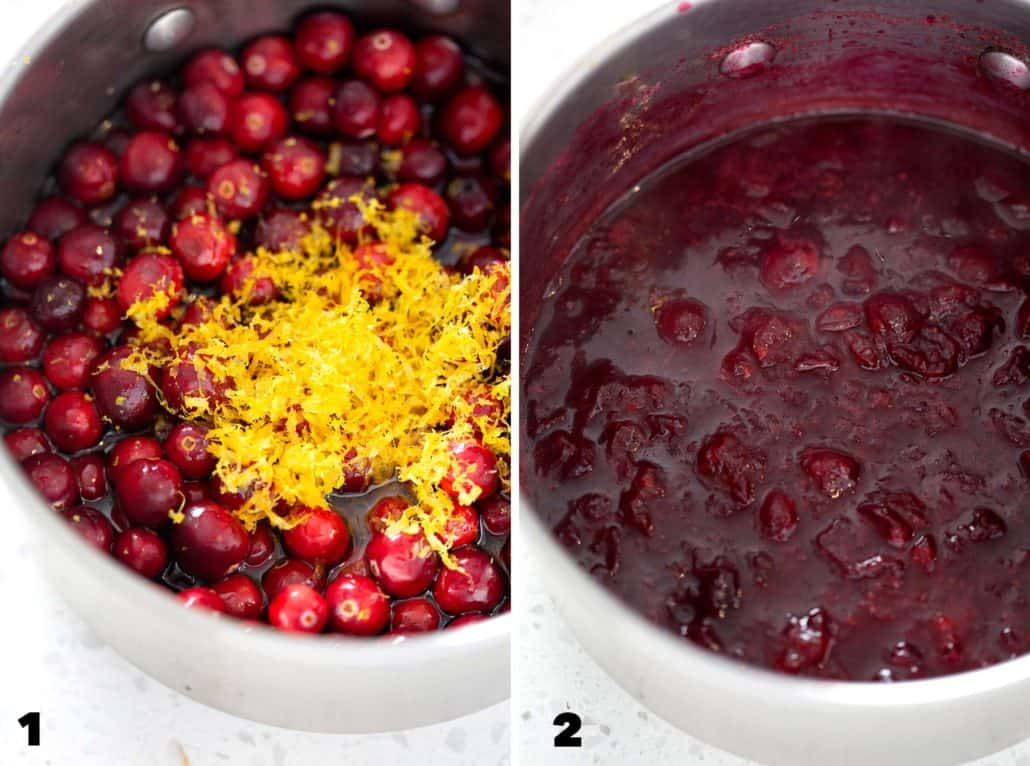 step by step instructions for making AIP Cranberry Sauce