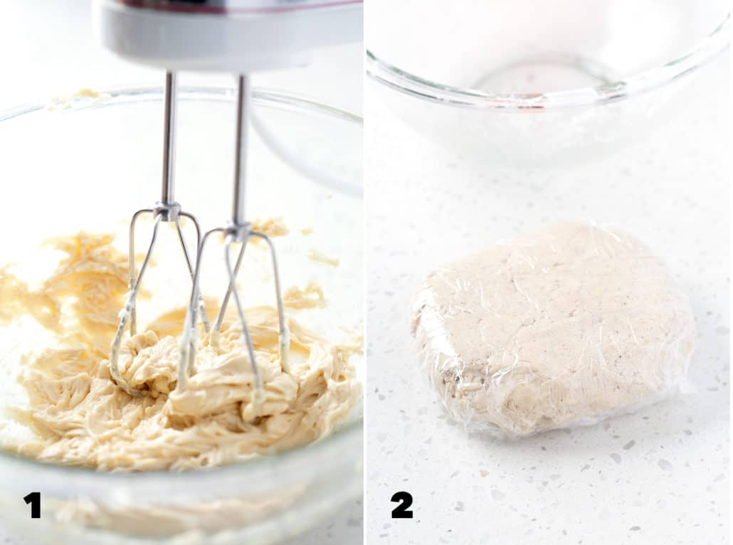 step by step instructions for making AIP 'Chocolate' Chip Cut Out Cookies