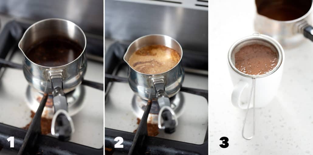 step by step instructions of how to make AIP Coffee
