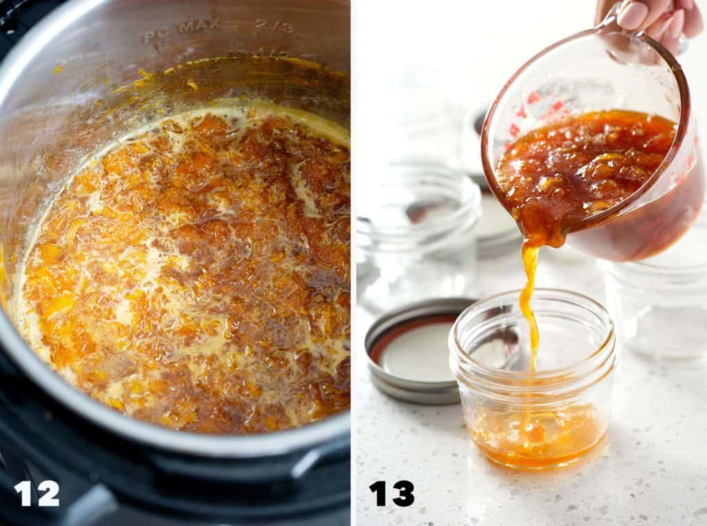 step by step instructions for Instant Pot Orange Marmalade