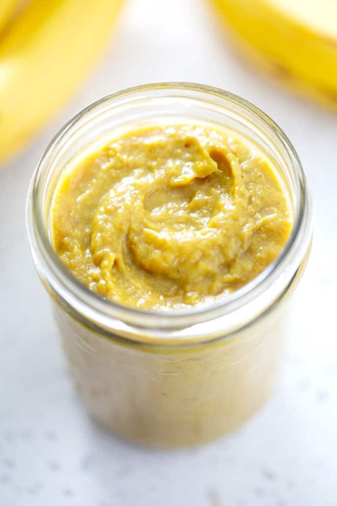 mason jar of AIP Banana Ketchup
