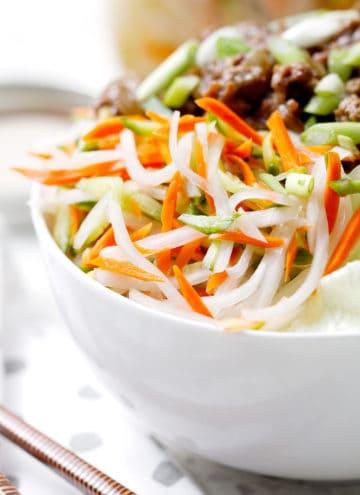Vietnamese Pickled Vegetables in bowl
