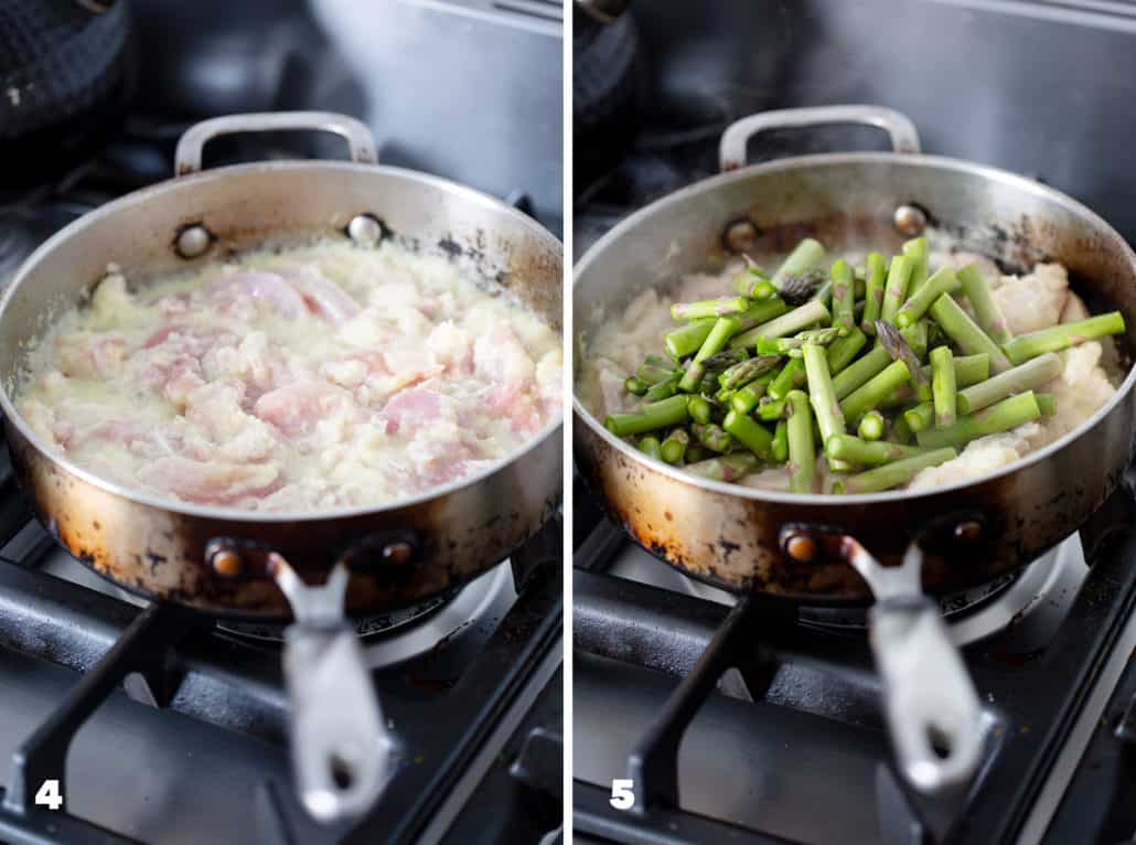 step by step instructions for AIP Ginger Chicken and Asparagus Stir Fry