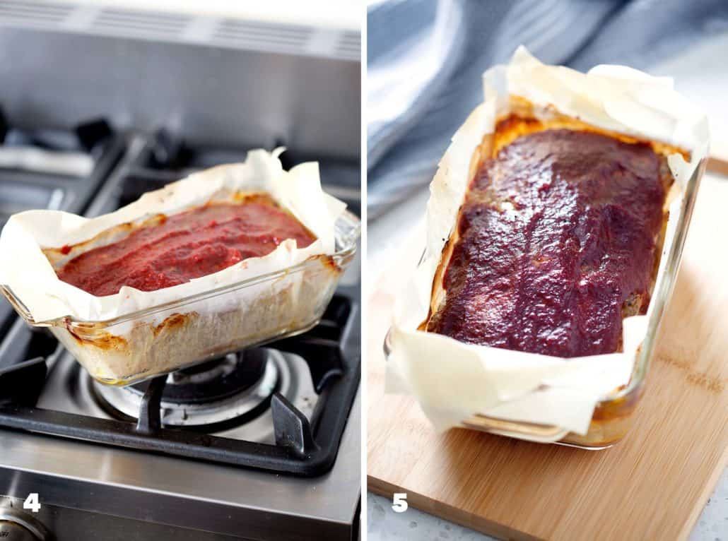 step by step instructions for making AIP Meatloaf