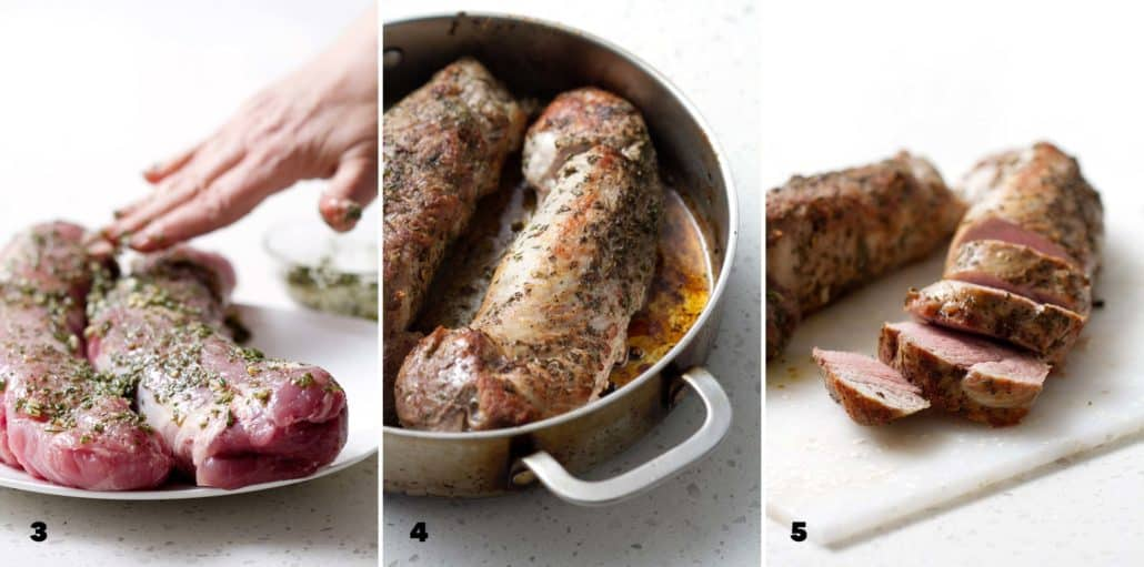 step by step instructions for making AIP Pork Tenderloin