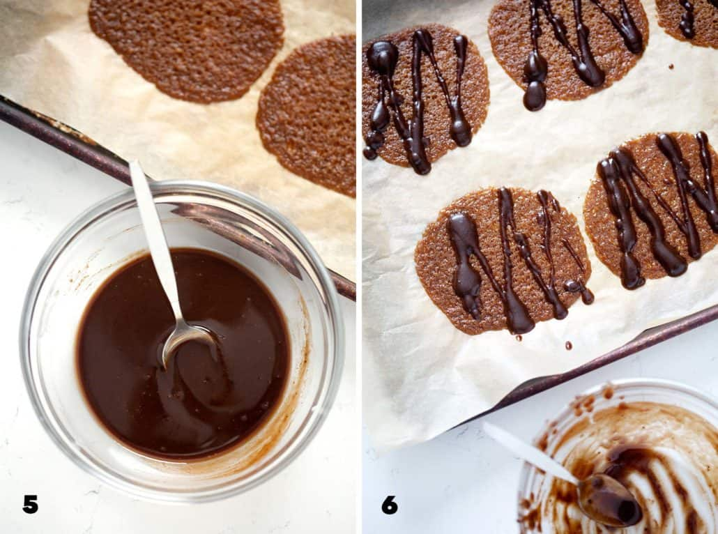 step by step photos of AIP Lace Cookies