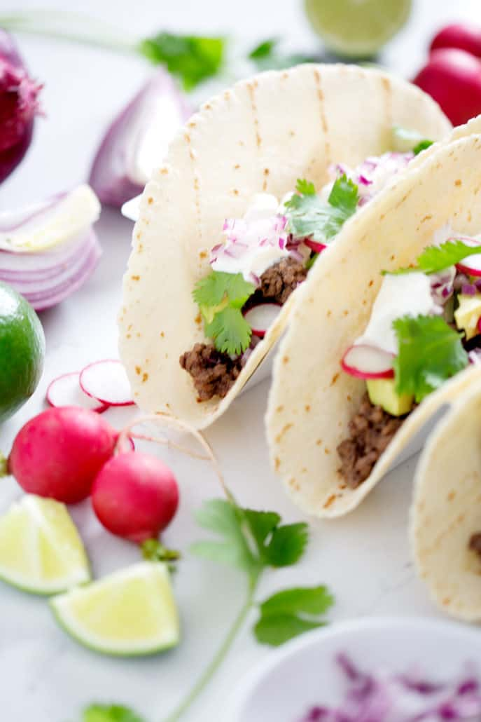 AIP Tacos with toppings