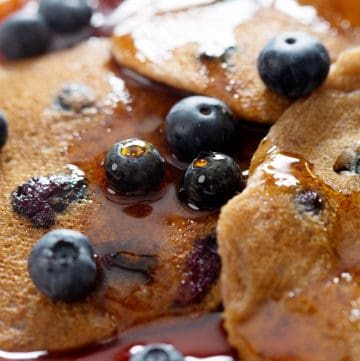 close up of AIP Blueberry Pancakes
