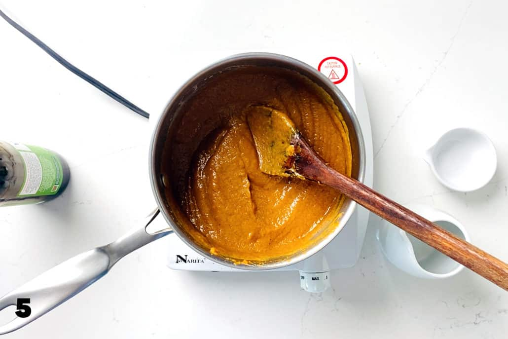 step 5 for making AIP Pumpkin Pie Bars