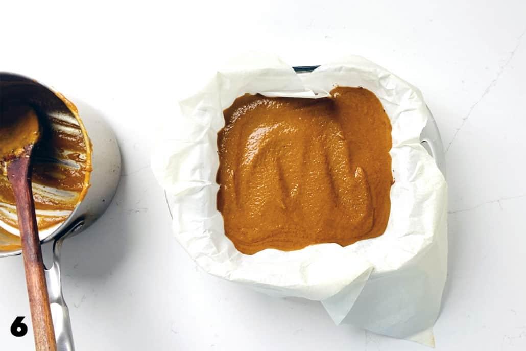 step 6 for making AIP Pumpkin Pie Bars